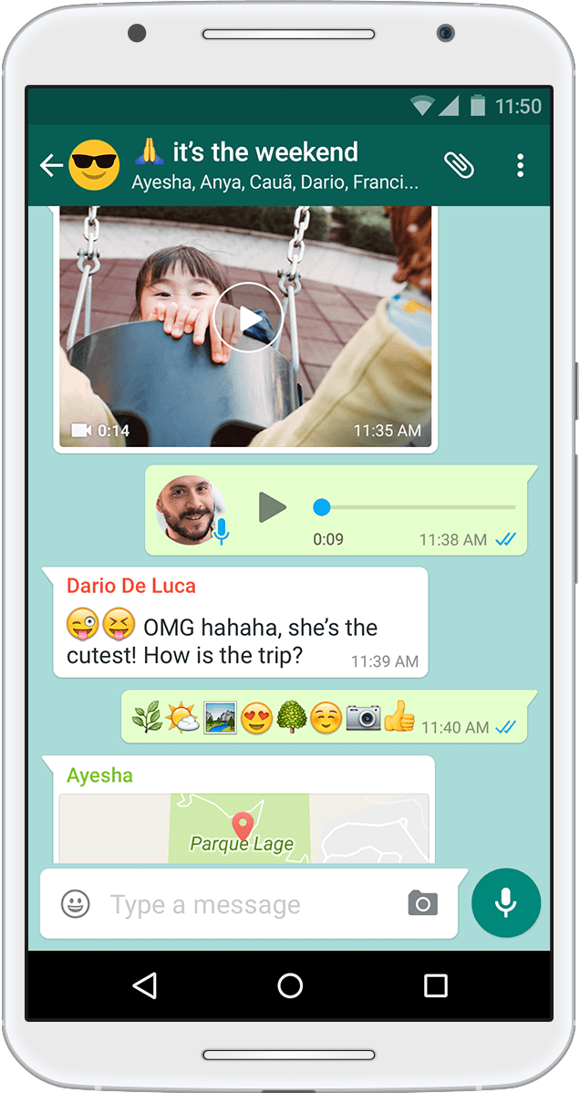 WhatsApp on Android
